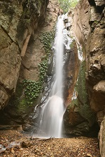 Water falls at Gombe National Park in Tanzania